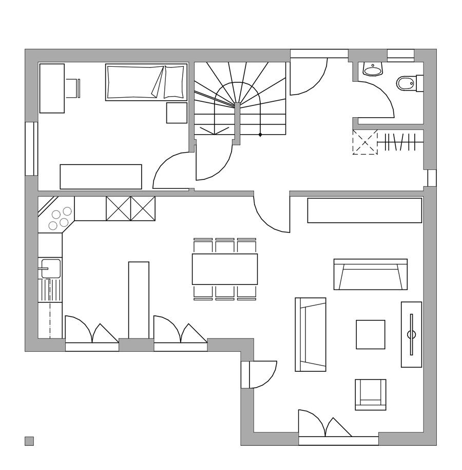 Haus 271 bautec ag for Grundriss einfamilienhaus 2 vollgeschosse