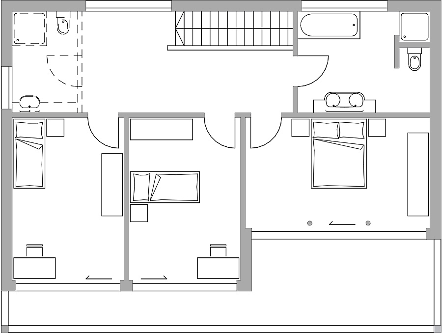 Haus 194 bautec ag for Grundriss einfamilienhaus 2 vollgeschosse